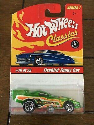 Hot Wheels Classic Series 1, Firebird Funny Car Green Lift up Body #18 of 25