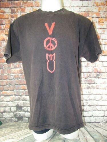 U2 Vertigo 2005 Concert Tour T-Shirt  Black Red Shirt - XL