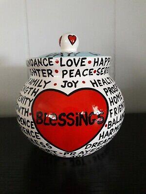 """Blessing Jar. Lorrie Veasey """"Our Name Is Mud"""". Cute Jar!"""