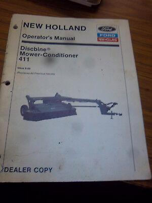 New Holland 411 Discbine Mower-conditioner Operators Manualdealer Original1989