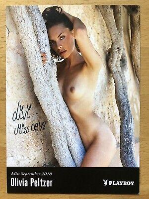 Olivia Peltzer AK Playboy Playmate Miss 09/18 Autogramm original signiert