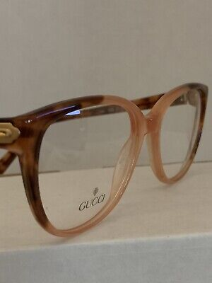 Vintage GUCCI Tortoise shell and pink Frames New Made in Italy optical