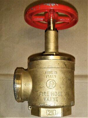 2-12 Fire Hose Valve Angle Female Npt X Male Nst- Ulfm Giacomini A56 Italy