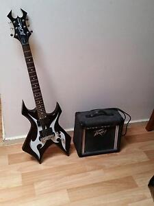 Bc rich electric guitar and peavey amp Modbury North Tea Tree Gully Area Preview