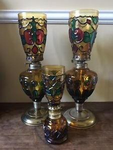 Antique oil lamps