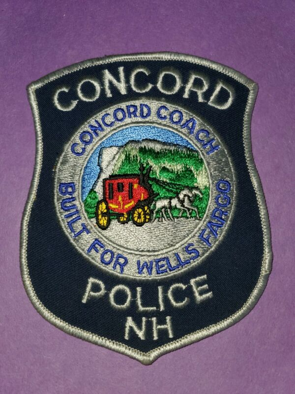 US Police Patch Concord New Hampshire Police
