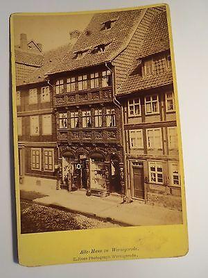 Wernigerode - Altes Haus mit Straße - Geschäft/ KAB