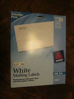 New Box Of 2000 Avery 816751675967 Return Address Shipping Labels 12x 1 34