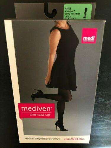 Mediven Sheer & Soft Closed Toe Pantyhose 20-30mmHg - Size III - Natural - 43403