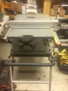 Ridged 10 inch table saw with foldup stand