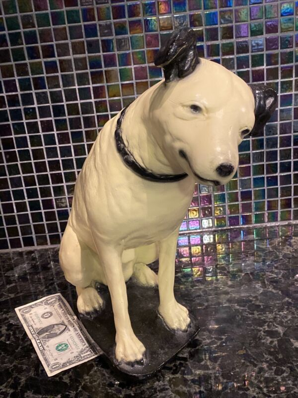 "VTG RCA ""Smiling"" Nipper Dog Ceramic Figure LARGE 14.5"" x 18"" His Masters Voice"