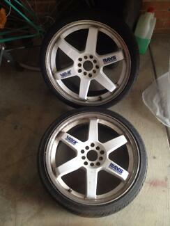 RAYS TE37 18X7.5 rims multistud.very cheap as i dont want them. Craigieburn Hume Area Preview