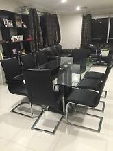 Glass Dining suite and coffee table Willetton Canning Area Preview