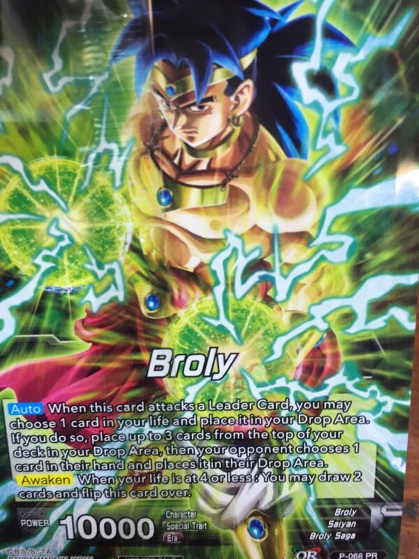 Dragonball Z Super Card Game Broly Movie Promo SEALED Theatre exclusive! NEW!!