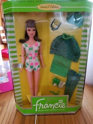 FRANCIE GAD-ABOUT 1966 FASHION DOLL REPRO BARBIE 1996 LE LAST ONE!! NIB MINT