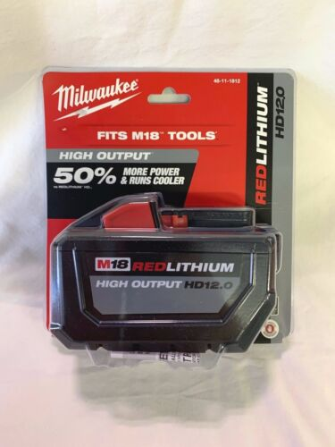 Milwaukee 48-11-1812 M18 18V 12.0 Ah Battery (New In Retail Packaging) NEW