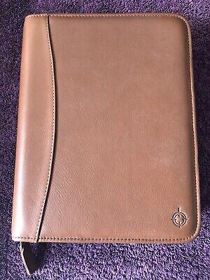 Franklin Covey Quest 7 Ring Binder Planner Teak Full Grain Nappa Leather Unused