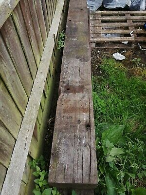 2 reclaimed hardwood railway sleepers mahogany coffee table garden bench project