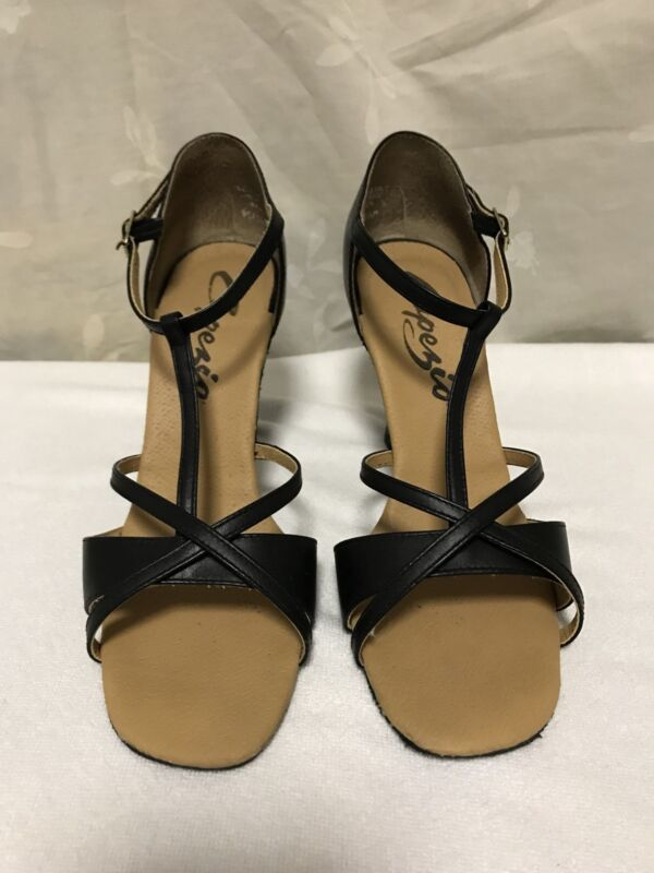 CAPEZIO Latina Ballroom Shoes Size 6.5 US
