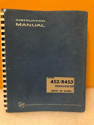 Tektronix 070-0755-00 453r453 Oscilloscope Instruction Manual