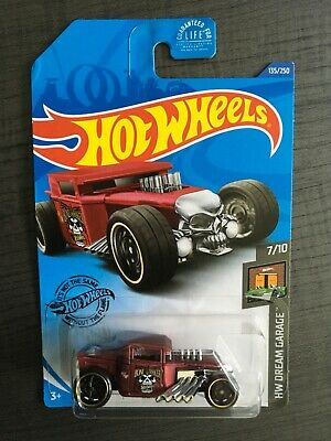 HOT WHEELS 2020 DREAM GARAGE SERIES BONE SHAKER Burgundy