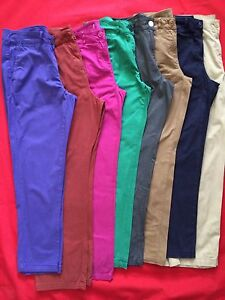 FAST-P-P-New-Ladies-Ex-M-S-Chinos-Pants-Sizes-8-to-26-Mink-Navy-Pink-Green-Rust