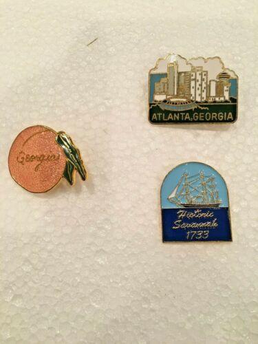 Lot Of (3) Georgia Pins