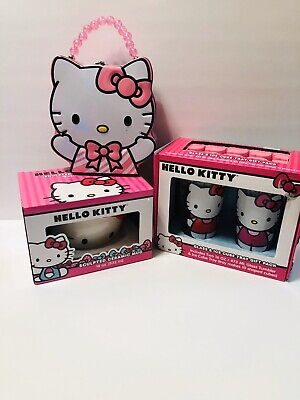 Hello Kitty Gift Pack Lot Glasses/ Ice Tray, Sculpted Mug, Head Shaped Tin (Hello Kitty Spectacles)