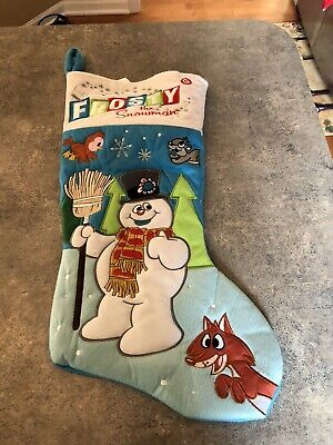 Gemmy Frosty the Snowman Christmas Musical Stocking
