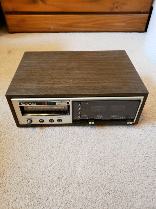 Vintage Craig 3307 8-Track Stereo Player/Recorder