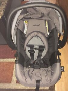 Grey and Black safety first car seat