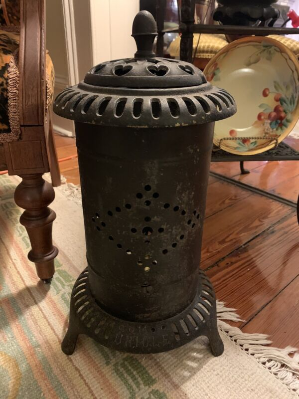 """Parlor Stove """"Oriole 14"""" By Baltimore Gas Appliance And Mfg Co / Repurposed Lamp"""