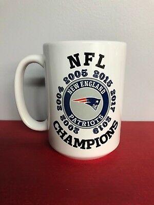 Super Bowl Mugs (New England Patriots Coffee Mug 15oz Super Bowl NFL Champions Both)