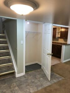 One bedroom basement apartment for rent November 1