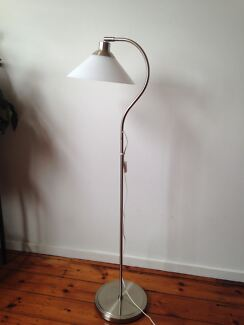 Floor lamp shade in victoria gumtree australia free local ikea kroby floorreading lamp with led bulb nickel plated glass mozeypictures Image collections