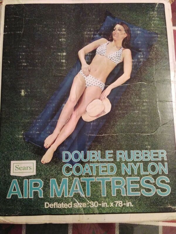 Vintage Double Rubber Coated Nylon Air Mattress