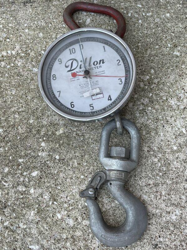 Dillon Dynamometer 10,000 LB Capacity 100 LB Divisions