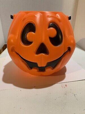 Vintage 1997 Grand Venture Pumpkin Jack O Lantern Halloween Candy Bucket