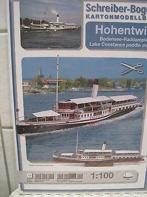 Hohentwiel Bodensee-Raddampfer Schiff Kartonbausatz *NEU* Schreiber- Bastelbogen