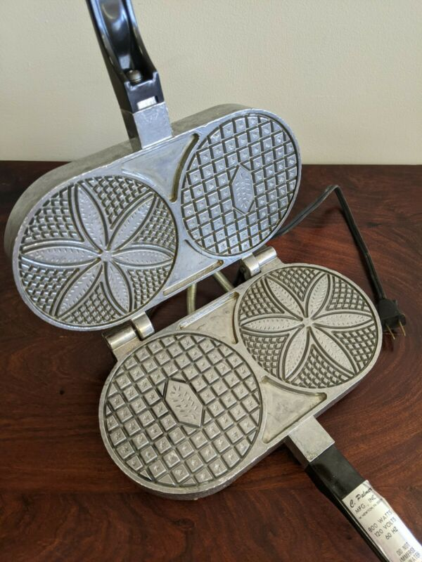 Nice Vintage C. Palmer ELECTRIC PIZZELLE IRON Model 1000 USA 800 Watts - Works