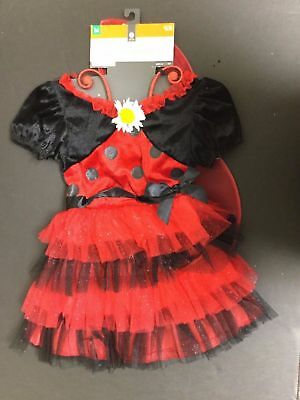 Target Girl's Kids Child 3 Piece Lucky Ladybug Halloween Party Costume ](Target Kids Costume)