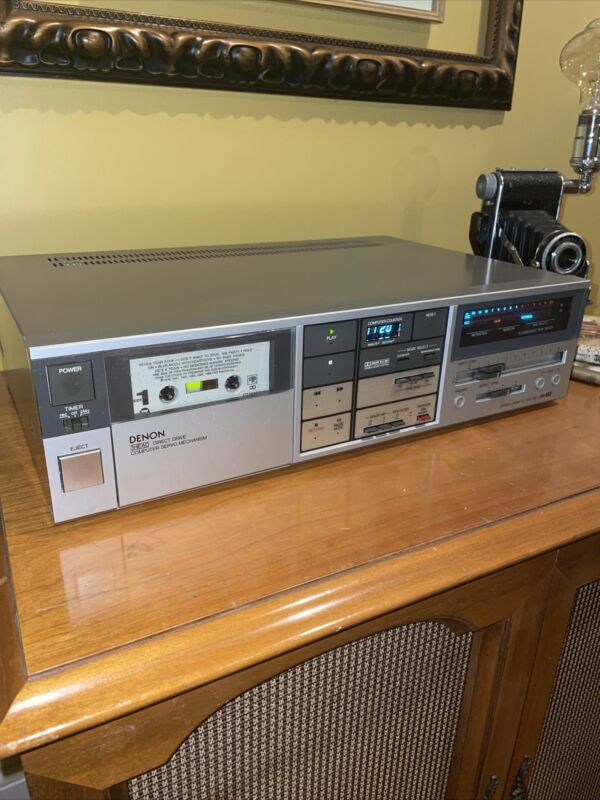 Vintage Denon DR-M2 3 Head stereo cassette tape deck - Tested / Works!