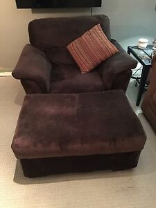 Large chair and ottoman