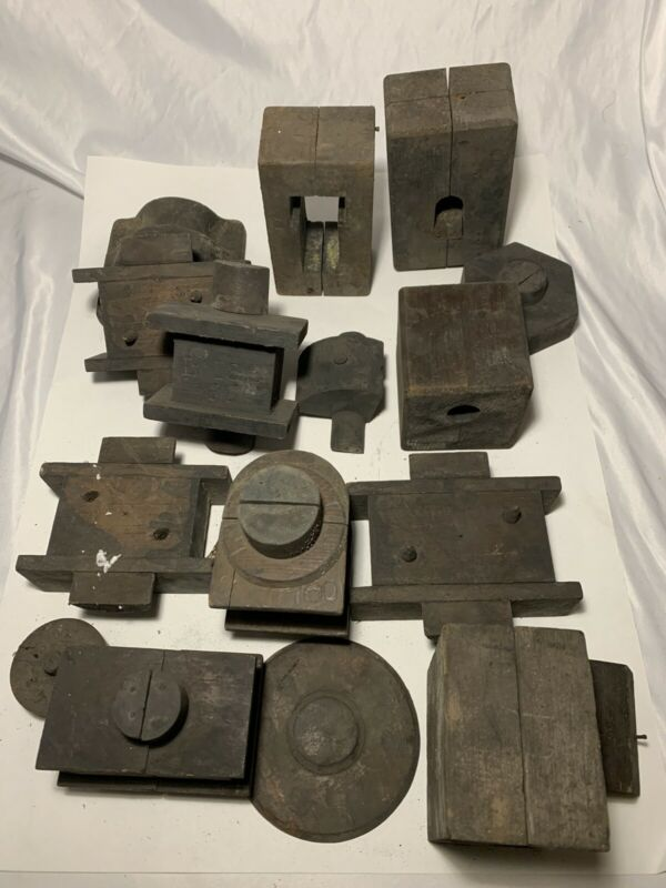 Lot Of Wood Foundry Molds