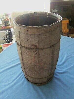 Antique Wood Barrel/ Keg
