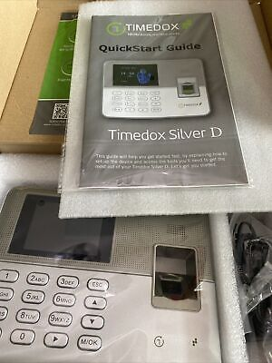 Timedox Silver D Biometric Fingerprint Time Clock For Employees-new