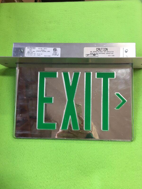 McPhilben Exit Sign 45VLG 120/277 Volt