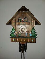 Vtg Swiss Musical Movement Cuckoo Clock Gueissaz Jaccard Edelweiss PRISTINE