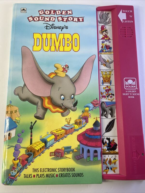 Golden Sound Story Disneys Dumbo Works Well Sight and Sound Touch N Listen