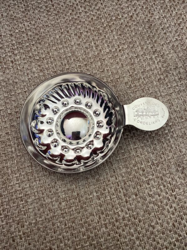 FRENCH COUVENT DES CORDELIERS   SILVER-PLATED WINE TASTEVIN TASTING CUP.